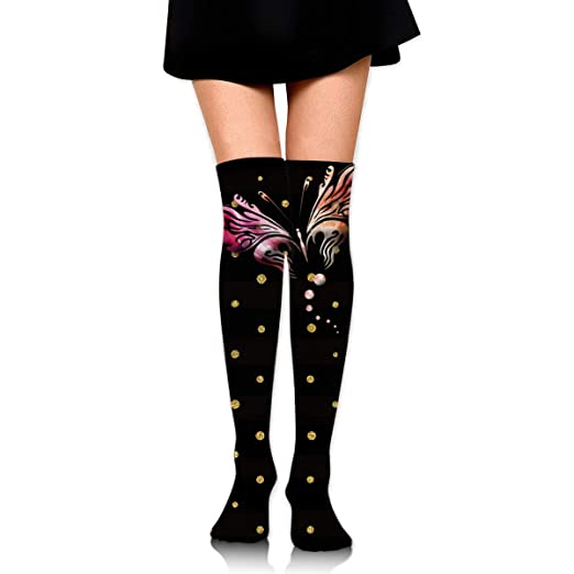 5a2b6d4a4caec Kyliel Over the Knee Thigh High Socks, Pretty fly Print High Boot ...
