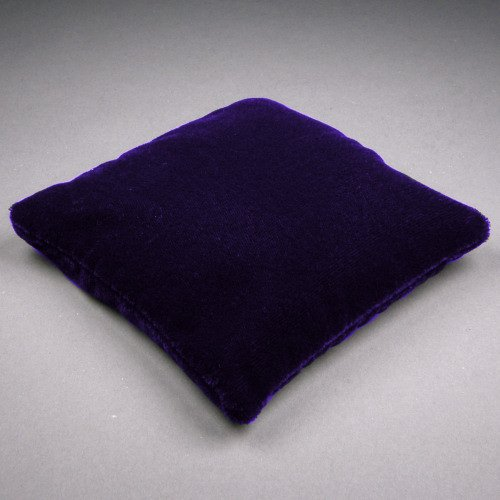 5.5 Inch Large Dark Purple Velvet Crystal Pillow Sphere or Point Display Stand, Square, CPV2L
