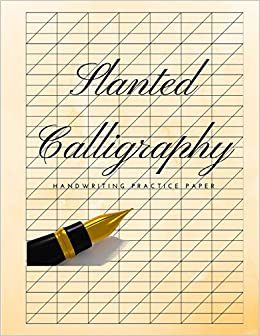 slanted calligraphy handwriting practice paper slanted graph grid