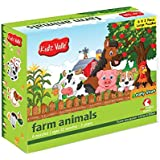 Kidz Valle Farm Animal Puzzles 6 x 2 Pieces 12 Months - 3 Years (Puzzles for Kids, Floor Puzzles)