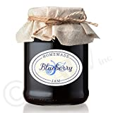 Wall Sayings Vinyl Lettering Homemade Jam Labels Set of 50 Waterproof Removable Sticker Material (Blueberry)