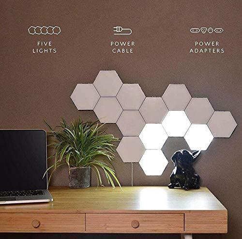 Hexagonal Wall Light Creative DIY Quantum Lamp Honeycomb Modular Assembled Ambient Touch Art Living Decorative Lamps Personality Touch Sensor ()