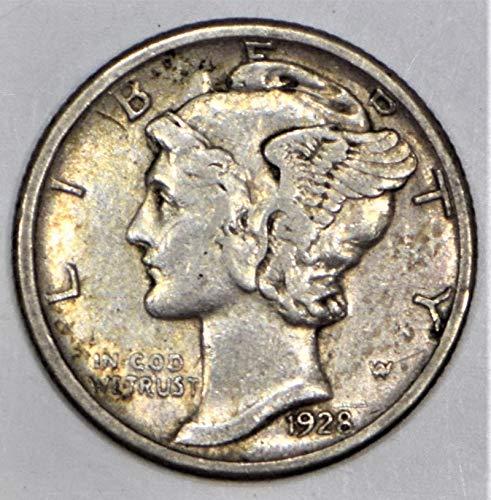 1928 S Mercury Dime XF+