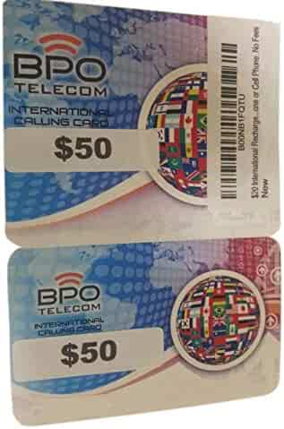 $50 International Rechargeable Calling Card From Home Phone or Cell Phone. No Fees Phone Card