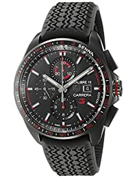 TAG Heuer Men's CBB2080.FT6042 Carrera Senna Analog Display Swiss Automatic Black Watch
