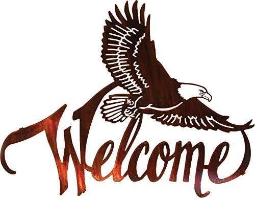 Thirstystone Winged Eagle Welcome Wall Art, 20-Inch