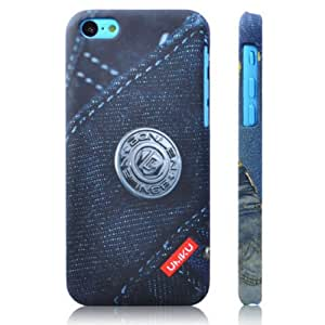 Smart Tech ® Retro Jeans Style Protective Plastic Back Case for Iphone 4/4S (pattern 2)
