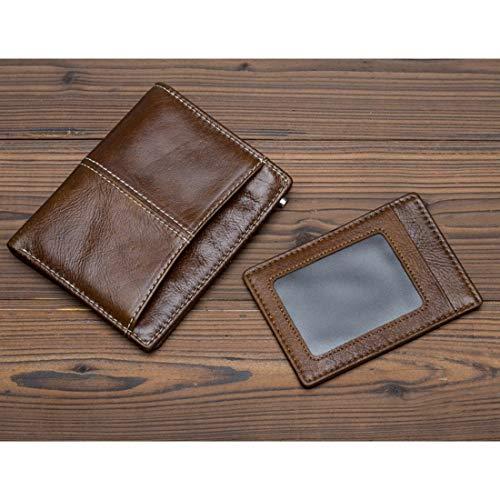 color Brown Pour Cuir Brown Portefeuille Véritable En À Cartes Funytine Deux Homme UFzHRq
