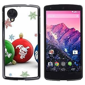 YOYO Slim PC / Aluminium Case Cover Armor Shell Portection //Christmas Holiday Colorful Globes 1298 //LG Google Nexus 5