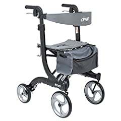 Supreme Value, Comfort and Mobility Drive Medical's Nitro Euro Style Rollator Walker in Tall Height was designed for those who want unmatched value along with proven comfort and convenience. With a sturdy and long-lasting frame made of lightw...