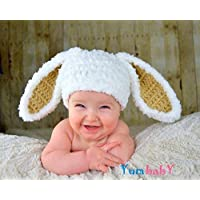 94c13f66969 Bunny Hats for Easter Baby Bunny Ears Beanie Easter Clothes for Kids Fuzzy Rabbit  Hat