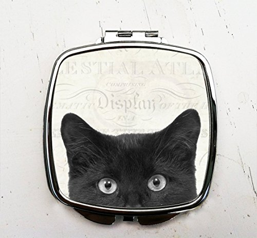 Peeping Tom Pocket Mirror Tom Cat Compact Mirror -