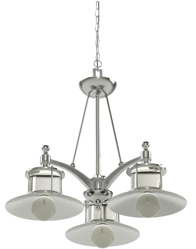 Quoizel NA5103BN New England Metal Shade Downlight Chandelier