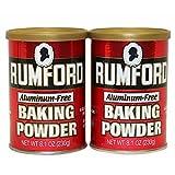 Rumford Aluminum-Free Baking Powder, 2 pk./8.1 oz. (pack of 2)