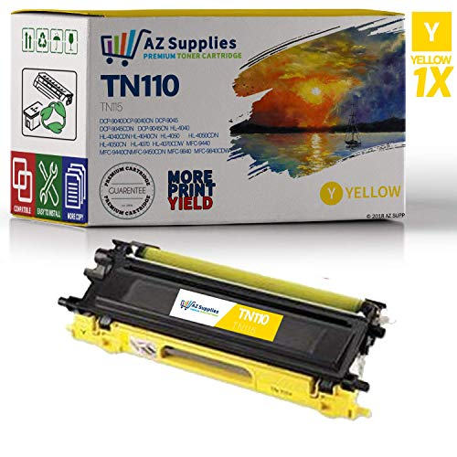 (AZ Supplies Remanufactured Toner Cartridge Replacement for Brother TN110 / TN115 (TN-110Y / TN-115Y) 1 Yellow)
