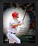 Bryce Harper Washington Nationals Pro Quotes Framed 8x10 Photo