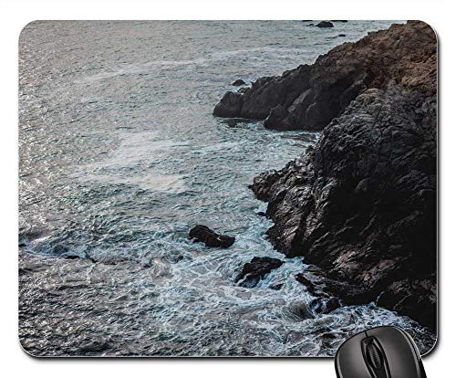 Mouse Pads - Coast Shore Rocks Cliff Wild Brackwater Waves
