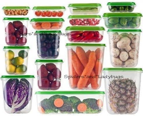 Ikea Set de 17 recipientes de plástico sin BPA para guardar alimentos con tapas, para picnic, fiesta, congelador, microondas, lavavajillas, lavavajillas, cocina, caja de almacenamiento, juego de caja, jardín, césped, mantenimiento: Amazon.es: