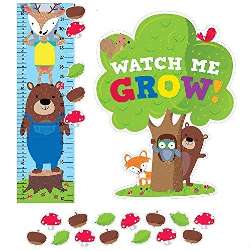 Creative Teaching Press Woodland Friends Growth Chart Mini Bulletin Board Set ()