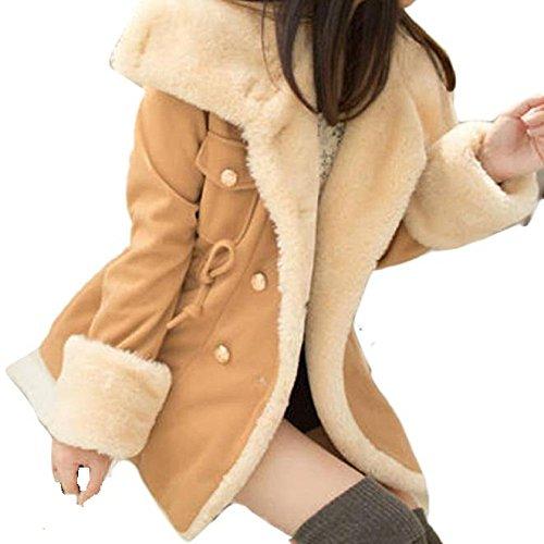 Mode boutonnage m double Hiver en Tonsee chaud laine POAZxqww