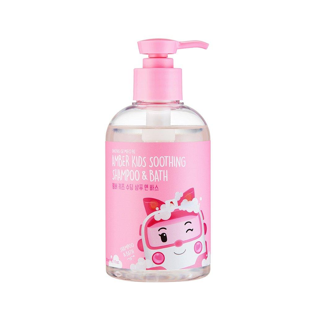 [DAENG GI MEO RI] Amber Kids Soothing Shampoo & Bath 300ml (Robocar Poli) - 2 in 1 Hair & Body Bubble Cleanser, Natural Ingredients for Sensitive Skin