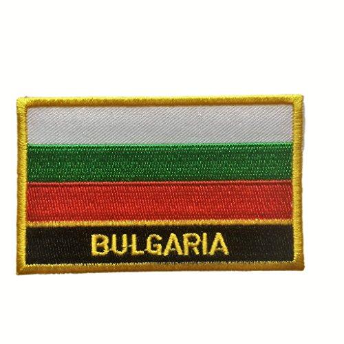 Bulgaria Sew On Flag Patch (Bulgarian Iron-On w/ Words, 2