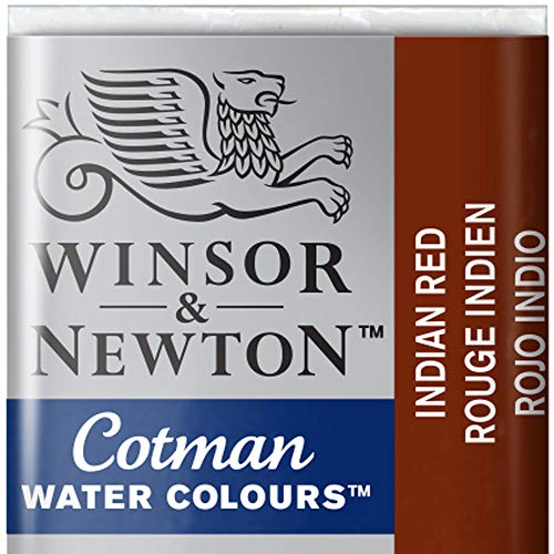 Cotman Winsor & Newton Watercolour Paint Half Pan - Indian Red 317