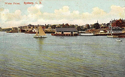 water-front-sydney-canada-l4510-antique-postcard
