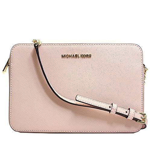 Michael Kors Jet Set East West Large Crossbody Pastel Pink Saffiano Leather