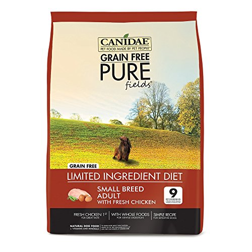 CANIDAE Grain Free Pure Fields Small Breed Fresh Chicken Dog Food, 4 lbs.