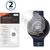 Garmin Forerunner 235 Screen Protector, BoxWave [ClearTouch Anti-Glare (2-Pack)] Anti-Fingerprint Matte Film Skin for Garmin Forerunner 235