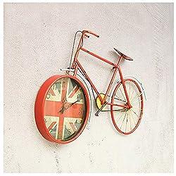Shelf shenglian Bicycle Wall Clock American Retro Old Wall Decoration Clock Cafe KTV Wrought Iron Wall Hanging