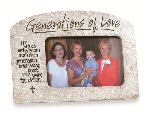 Abbey Press Generations of Love Photo Frame - Mother's Mom Gift Inspiration Faith Blessing Spirit 44689-ABBEY by Abbey Gift