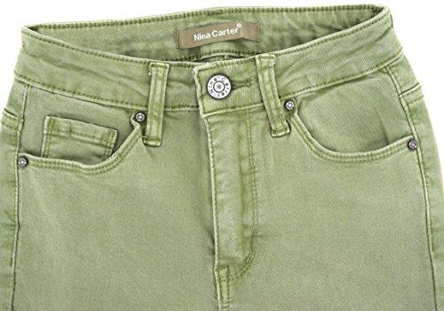 Straight Verde Donna Skinny Pantaloni Slim Slim Jeans Da Boyfriend Denim A Bootcut 42 34 EI6IqOa
