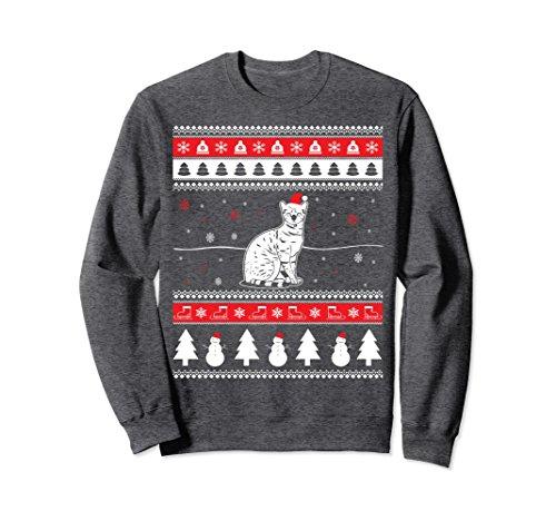 Unisex Funny Bengal Cat Ugly Christmas Sweatshirt Pet Gift 2XL Dark Heather