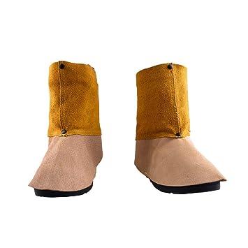Soldadura de Cuero y protección de pies Manga Soldador Aislamiento de Calor Cubierta de Zapatos de protección de Mano de Obra, Cubierta de pie: Amazon.es: ...