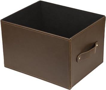 Estabilidad Economica 336hp Caja cuero para almacenaje, Marrón, 30X24X20: Amazon.es: Bricolaje y herramientas