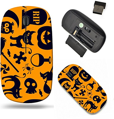 Spooky Scroll - Liili Wireless Mouse Travel 2.4G Wireless Mice with USB Receiver, Click with 1000 DPI for notebook, pc, laptop, computer, mac book IMAGE ID: 15491380 A spooky seamless halloween background