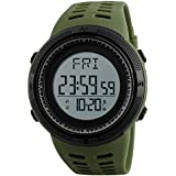 SKMEI Digital White Dial Men's Watch-1295 Green