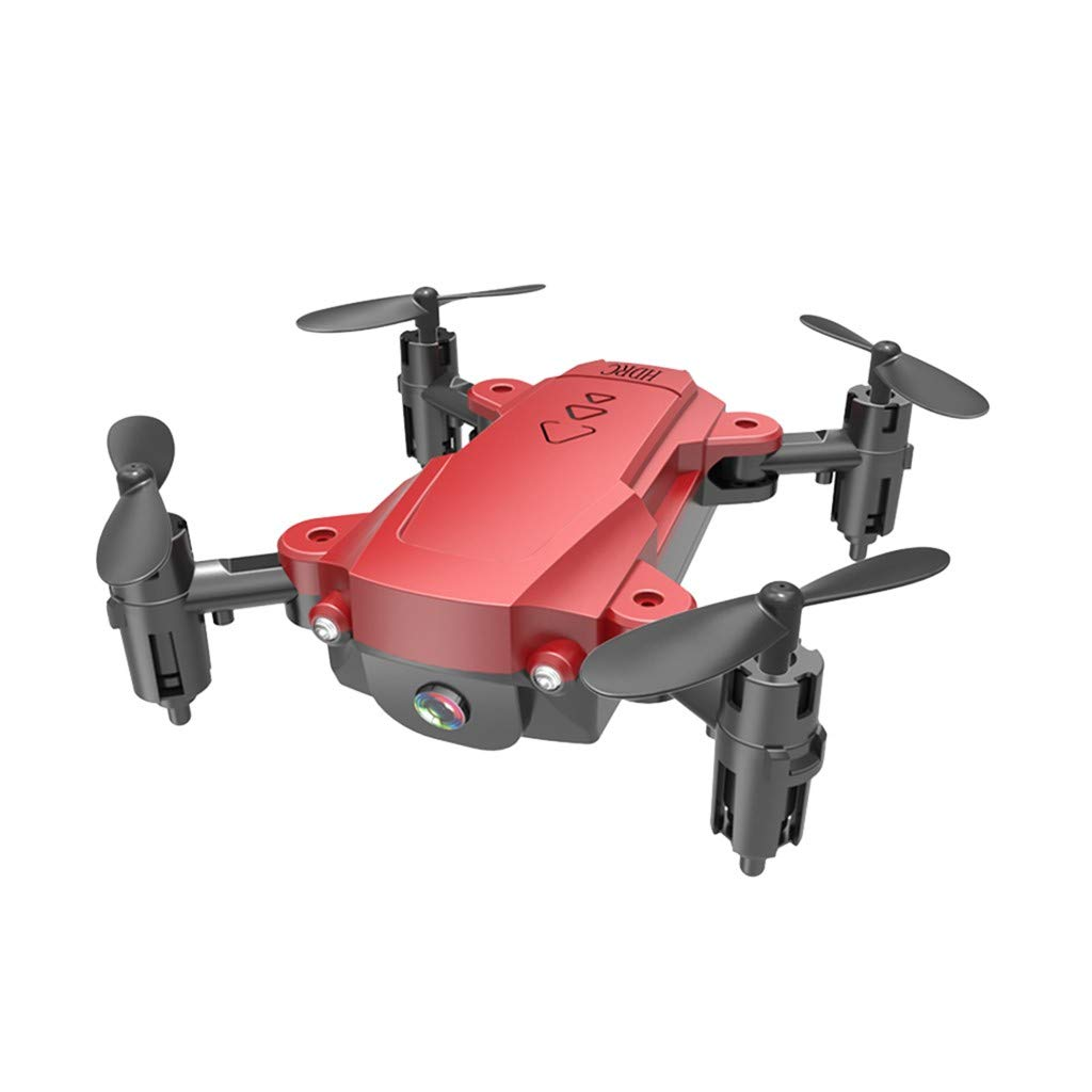 H16 Drone RC Quadcopter GPS WiFi FPV Drone with Camera Live Video,4K HD Camera Selfi Drone,Foldable Arms,Altitude Hold Gesture Control RC Quadcopter Drone for Kids Adults (Red) by Lucoo