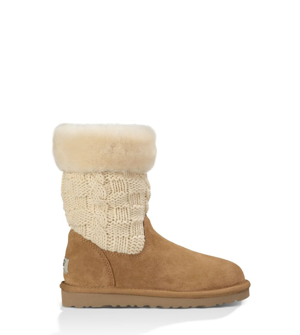 UGG Girls' Juniper Boot,Chestnut,US 13 M