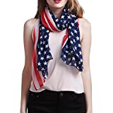 TooPhoto Patriotic American Flag Stars Stripes Sun Beach Multi-function Scarf