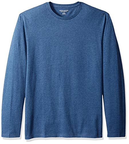 (Amazon Essentials Men's Regular-Fit Long-Sleeve T-Shirt, Blue Heather, Medium)
