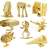 NOVADEAL Star Wars Set of 8 Golden Metal Model Kits 3D Assembly DIY Nano Toy Puzzle For Kids Adult