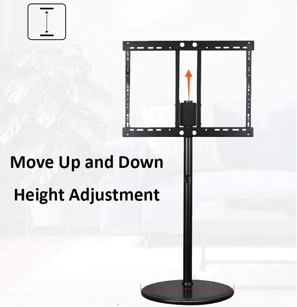 dehong Wood Table Top TV Floor Stand for 45—65 Inches TVs,Yellow Vertical Monitor Stand Up to 32KG Tilting Height Adjustable,Max VESA 600x400mm Style #2