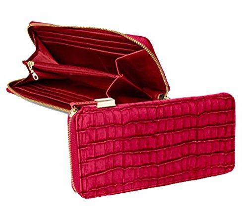 (Abas Samantha Clutch Wallet in Vintage Crocco (617-104))