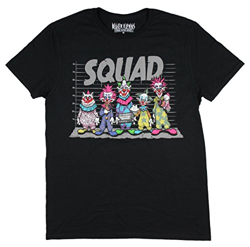 Killer Klowns from Outer Space Mens Squad Police Line-Up T-Shirt (Large) (The Killers T-shirt)