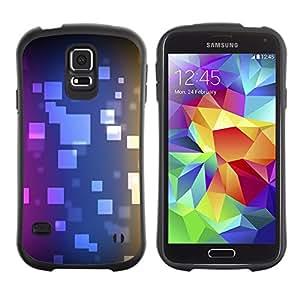 Paccase / Suave TPU GEL Caso Carcasa de Protección Funda para - Polygon Pattern Purple Blue Black - Samsung Galaxy S5 SM-G900