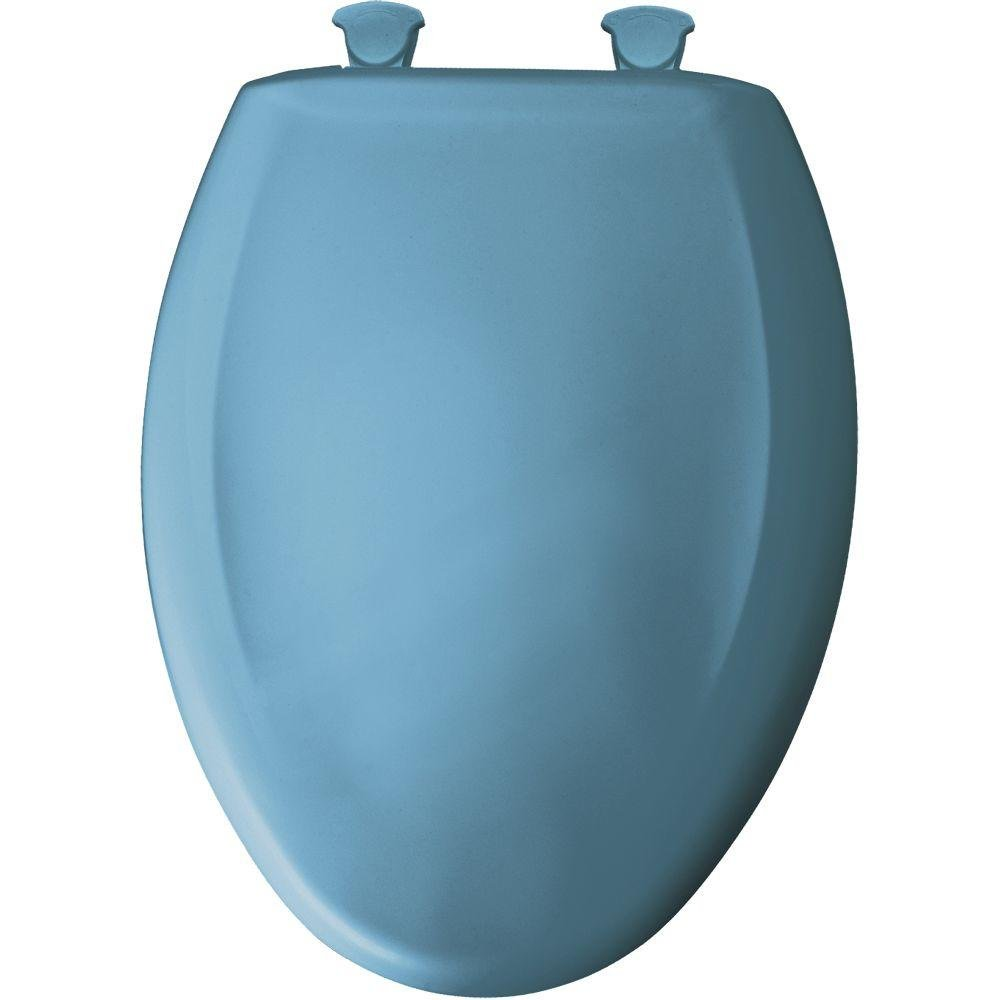 Bemis 1200SLOWT 144 Slow Sta-Tite Elongated Closed Front Toilet Seat, New Orleans Blue