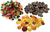 Fall Table Scatter Pumpkin Gems, Autumn Leaves and Acorns. Fall Decorations for Table Bundle